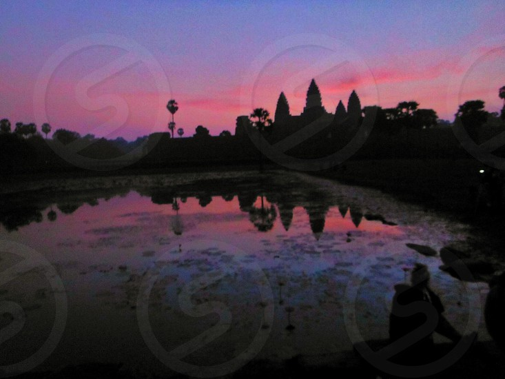 Angkor Wat sunrise New Year's Day photo