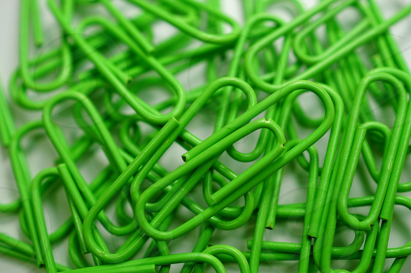 Green Paperclips photo