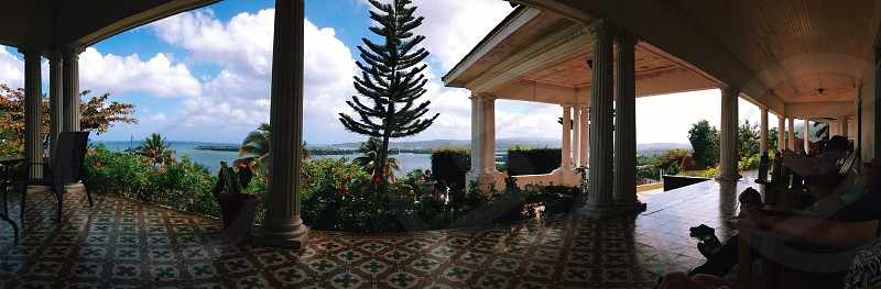 Montego Bay Jamaica. View from the porch. photo