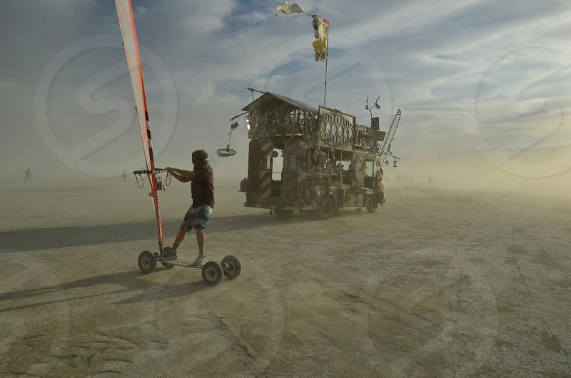 skate boarding windsurfing artistic truck desert photo