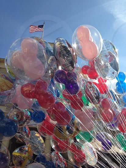 Balloons on main at USA in Disneyworld  photo