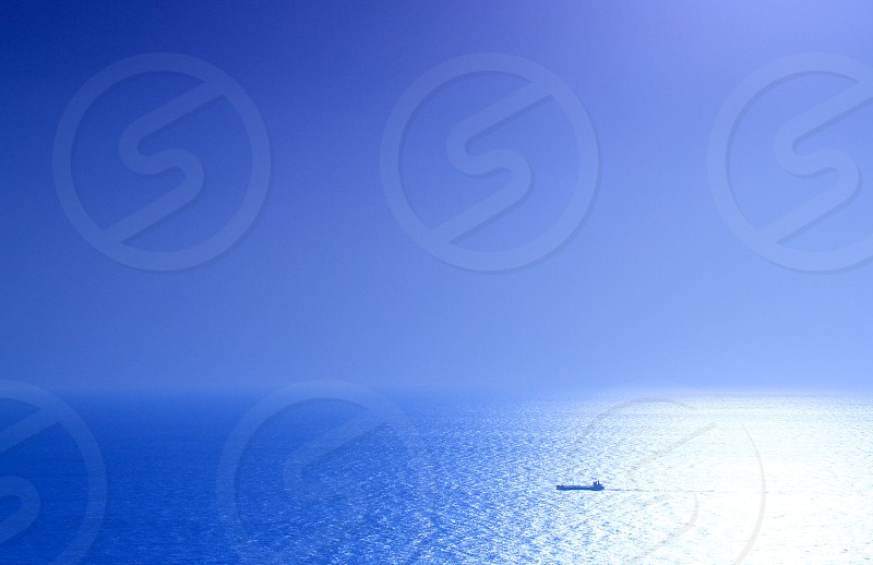 PHOTO CHALLENGE 'Minimalism' (5) Seascape Silhouettes Blue Gradation Ship photo