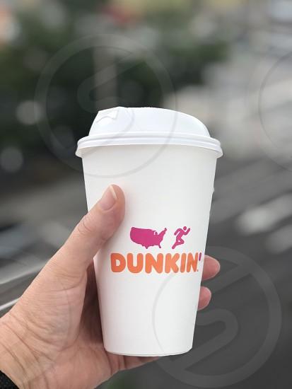 Coffee cups around the world photo