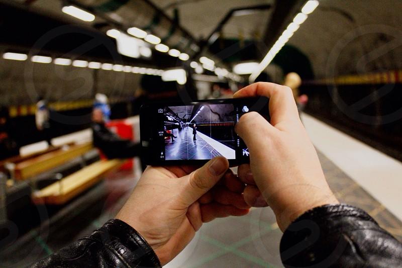 black smartphone photo