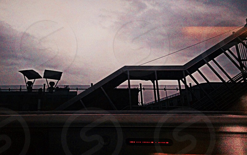 fast train stop blur motion photo
