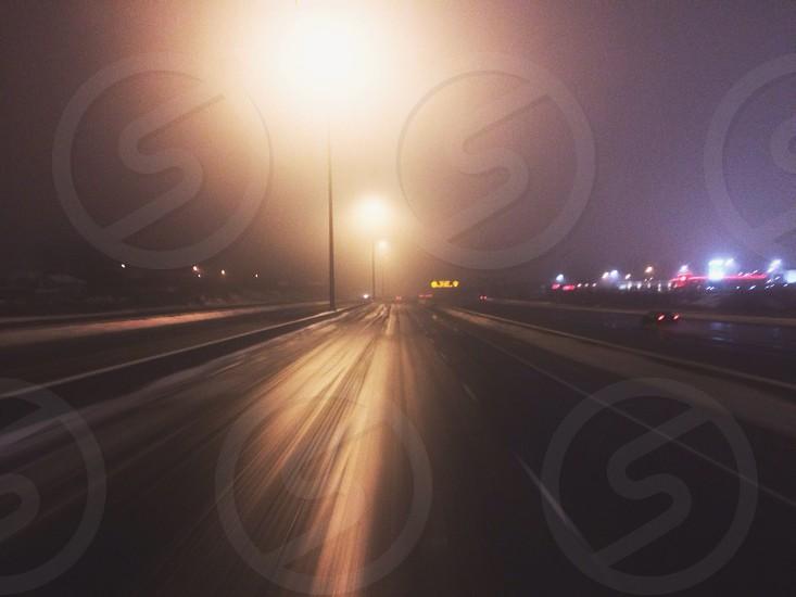 road night view photo