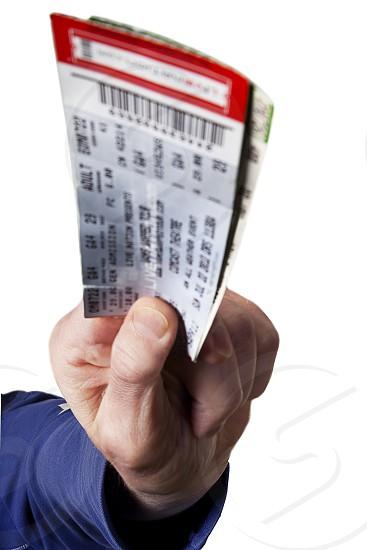 lottery ticket macro photography photo