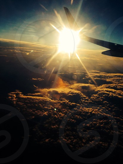 Flying home photo