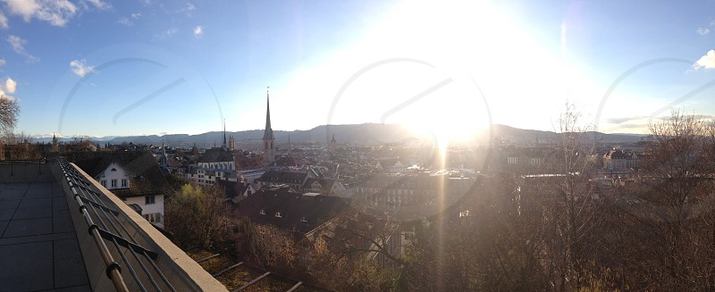 Zurich on a sunny day photo