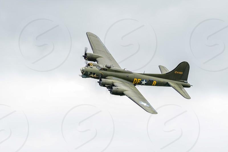 Sally B Boeing B17 Bomber flying over Shorham Airfield photo