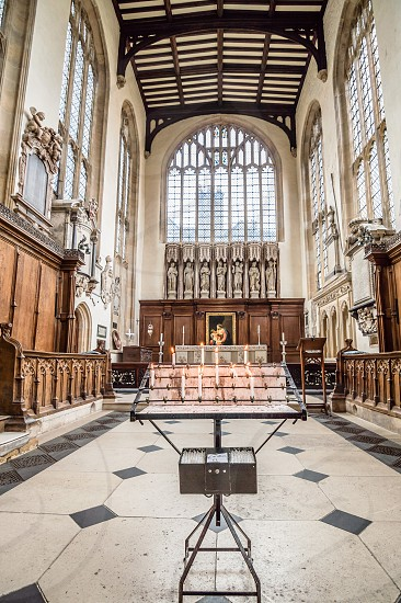 Interior view of University Church of St Mary the Virgin in Oxford. photo