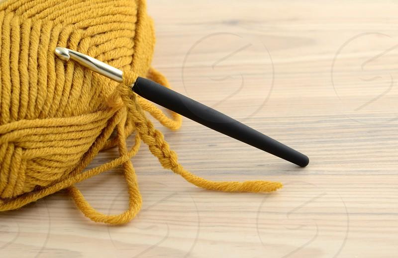 crochet with wool. photo
