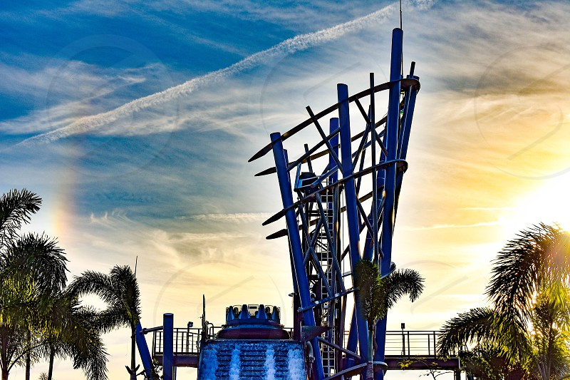 Orlando Florida. December 19 2018. People having fun the world's tallest drop in Infinity Falls at Seaworld in International Drive area  (5) photo