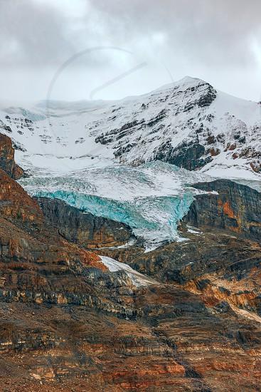 Athabasca Glacier in Jasper National Park. Alberta. Canada photo