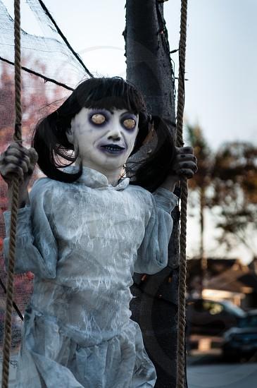 Terrifying eyeless ghoul photo
