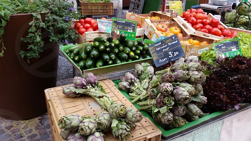 French Street Farmer's Market Produce Vegetables Fresh Europe photo