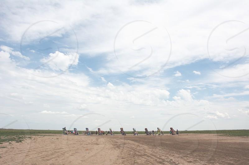 Amarillo; Texas; Cadillac ranch; graffiti  photo