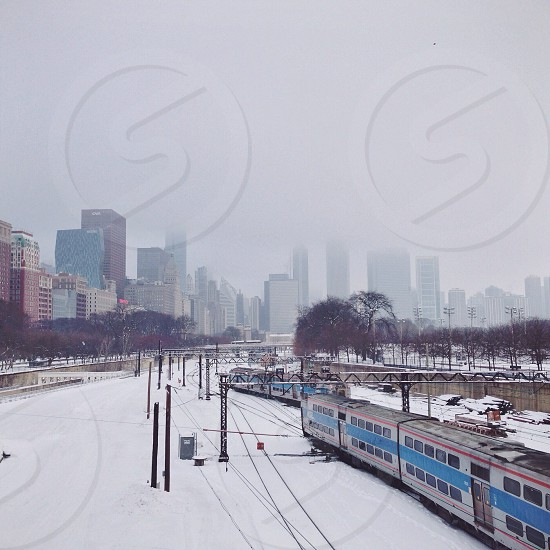 snow cityscape photo photo