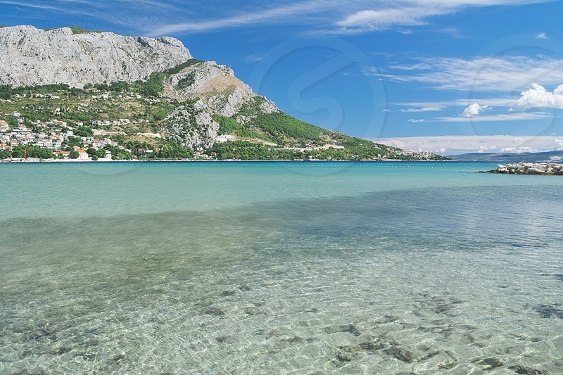 Omis Sea Bay Landscape in Summer Croatia photo