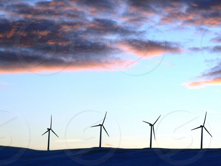 Hydro Windmills Alberta Canada photo