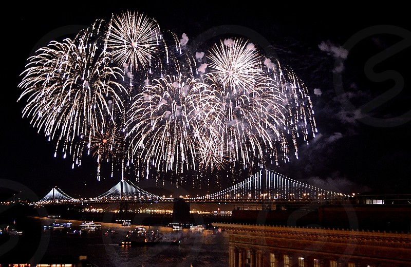 Fireworks by the Bay. photo