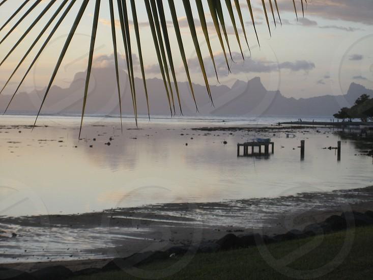 sunset Tahiti photo