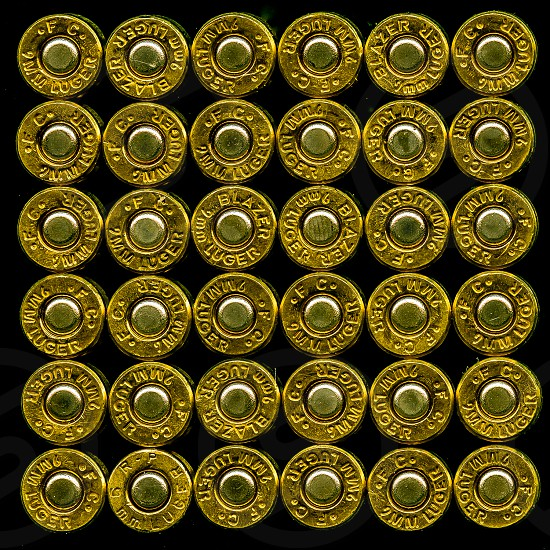 Still life of bullets photo