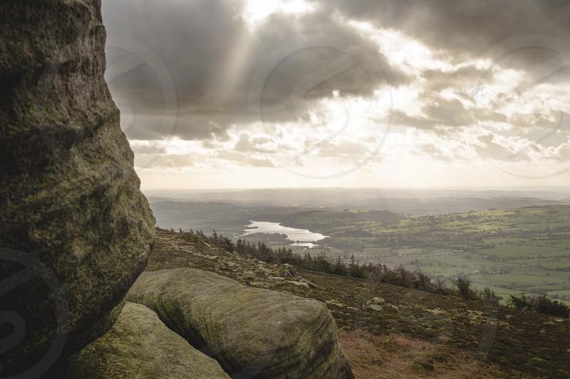 Autumn light over the Peak District UK. photo