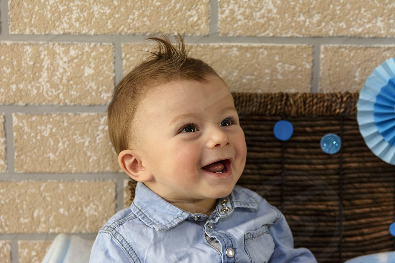 Cute baby boy photo