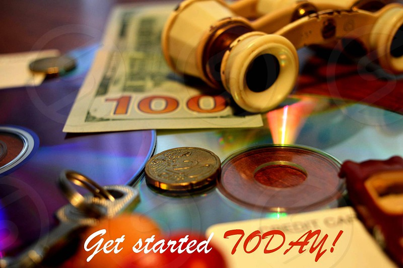 GET STARTED TODAY. money.  photo