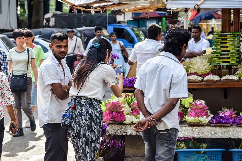 A Small flower shop in Srilanka photo