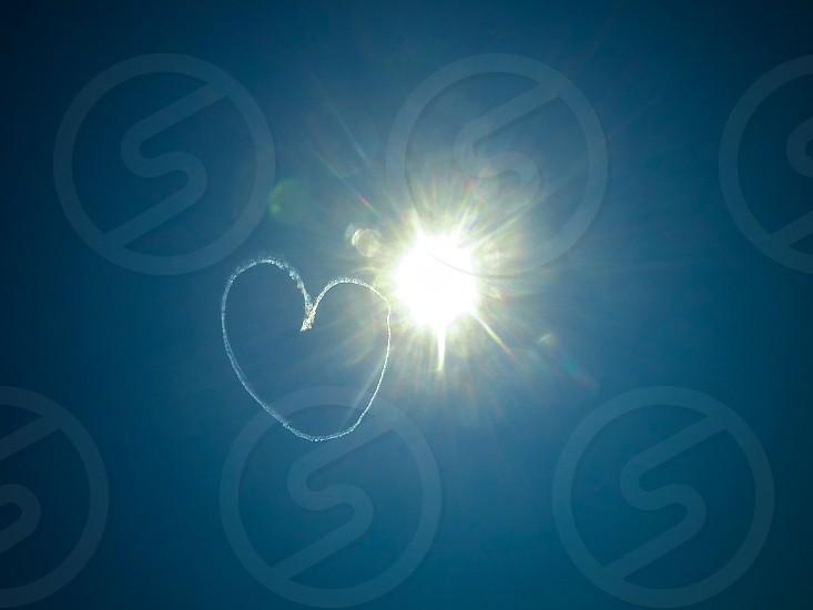 Skywriting Heart Sun photo