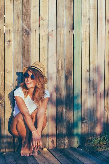 fence wooden through Bikini the