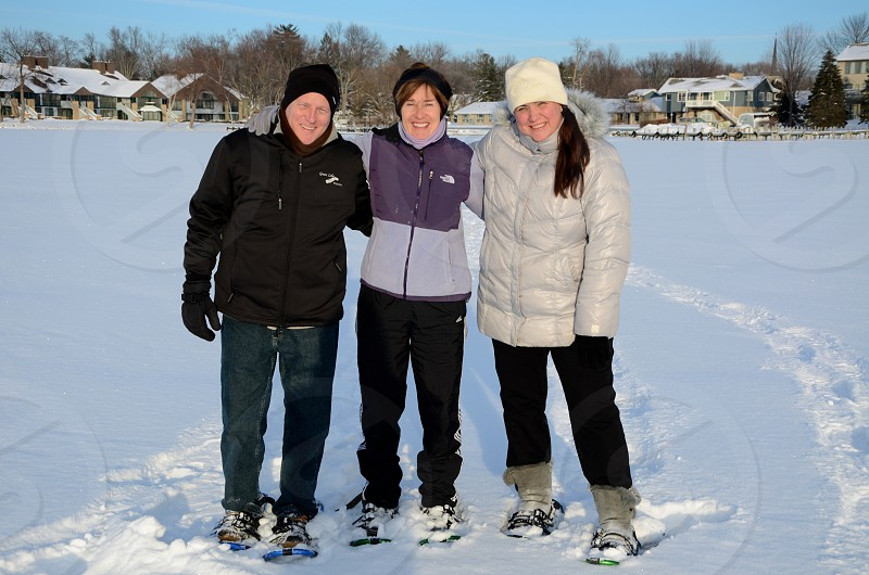 Snow Shoeing Winter Wisconsin Old People photo