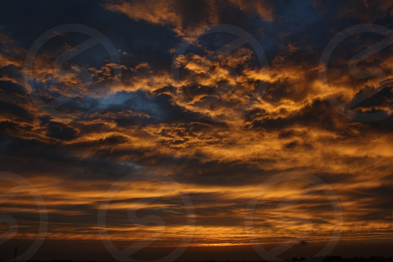 Sunset clouds photo
