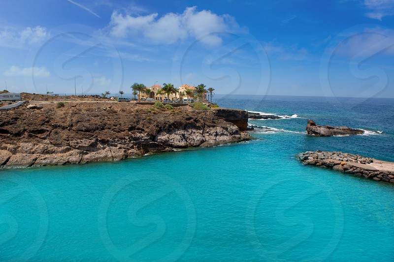 Beach Playa Paraiso costa Adeje in Tenerife at Canary Islands photo