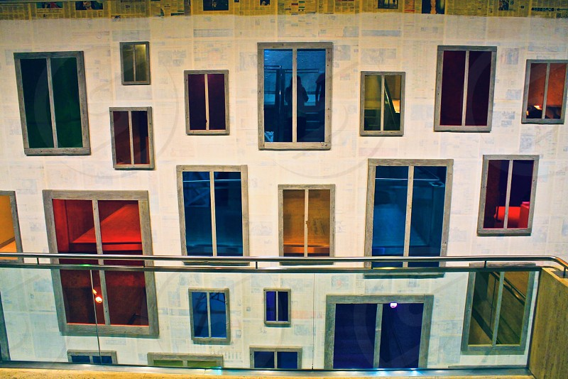 Architecture buildings museum inside windows colorful art wall photo