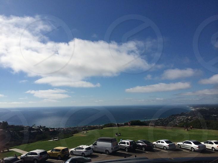 Mount Soledad beach water ocean cliffs landscape California view photo