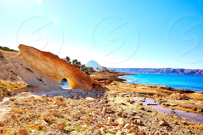 Javea Xabia Cala Blanca beach in Alicante at Mediterranean Spain photo