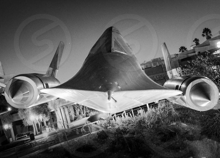 SR 71 planes Jet military museum black and white photo