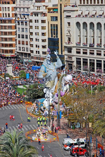 Falles Festival time in Valencia Spain. photo