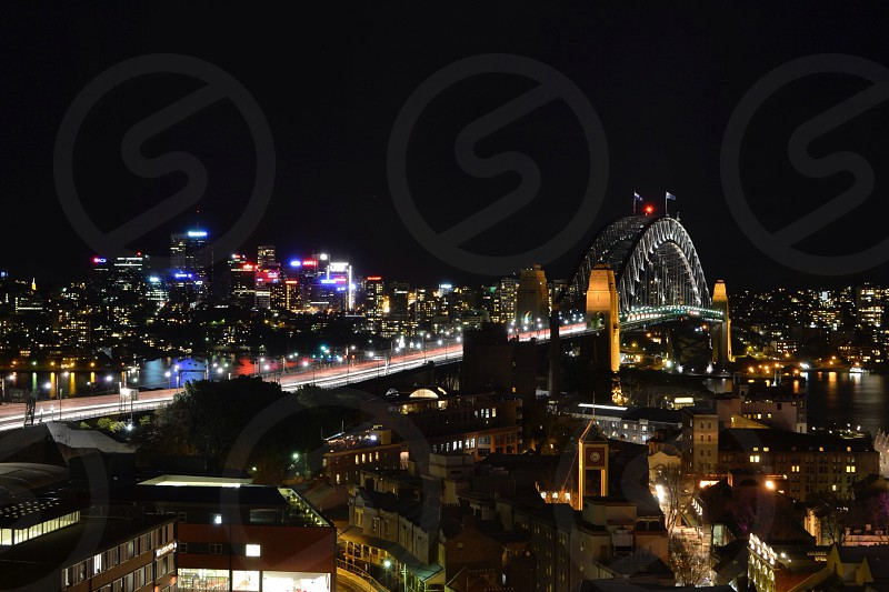 Sydney at night photo