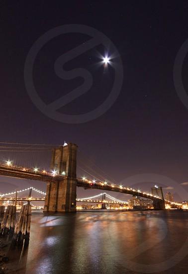 Brooklyn Bridge in Winter.  2 minute long exposure.  photo
