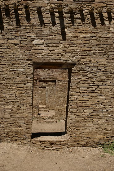 Travel photo of indian dwelling in Chaco Canyon New Mexico                photo