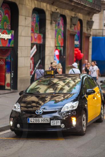 toyota prius taxi black photo