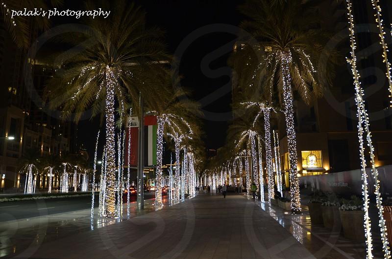 Dubai at night. photo