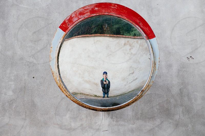 Selfportrait in mirror photo