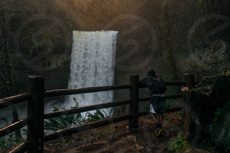 Explore more think less waterfall water hiking pnw photo