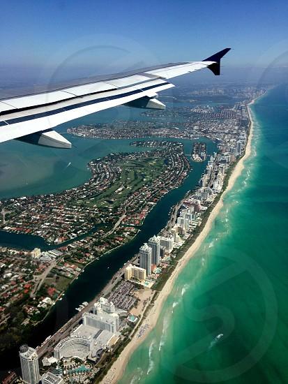 Miami Beach Coast - From Plane photo