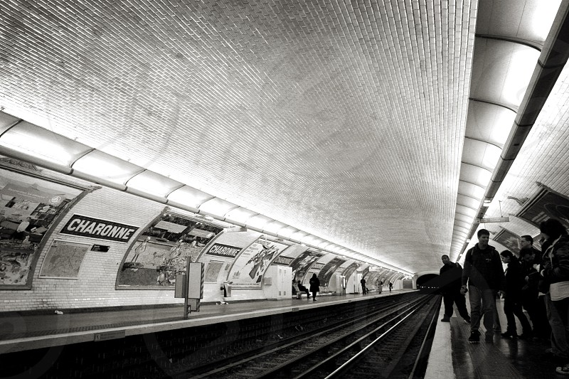 Subway stop in Charonne France photo